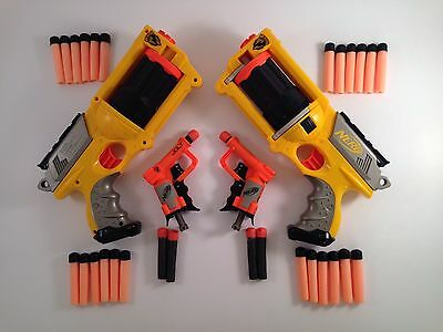 NERF 2 x Maverick REV-6 & 2 x Jolt PLUS loads darts BUNDLE Job Lot FREE POST
