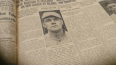 Original old newspaper page 1918 George Babe Ruth Boston baseball offer photo