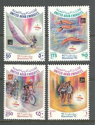 SPORTS: BARCELONA OLYMPIC GAMES ON UNITED ARAB EMIRATES 1992 Sc 393-396, MNH