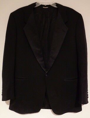 Vintage Christian Dior Le Connaisseur Black Tuxedo Suit Jacket Mens 42L Unworn