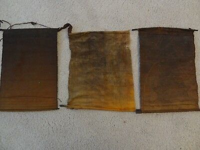 Antique Mongolian Tibetan  Buddhist Various Woodblock Prints On Cotton 3 Pc