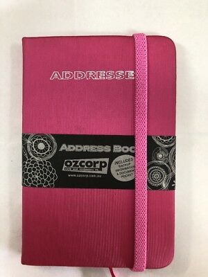 Address Book Pink Hardcover 125mm X 85mm