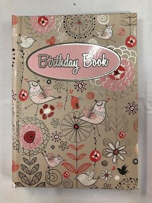 Birthday Book Flowers & Birds Special Dates 145mm X 110mm OzCorp