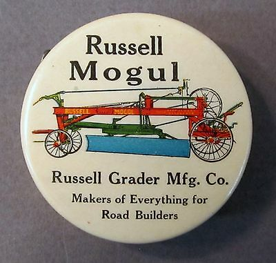 circa 1900 RUSSELL GRADER CO. celluloid advertising tape measure *