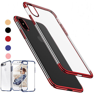 for Apple iPhone XS Max 6 7  8 Plus XR Soft Back TPU Cover Case + Tempered Glass