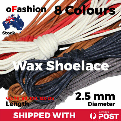 Wax Cotton Thin Round Dress Shoelaces Waxed Laces 2.5mm For Dress Shoes