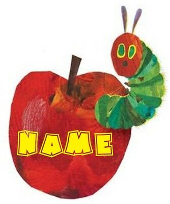 Very Hungry Caterpillar PERSONALISED Craft T-Shirt Iron On Transfer 9.5x8cms