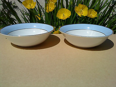 Set Of 2 Royal Doulton Daily Mail Regency Gold Cereal Bowls By Bruce Oldfield