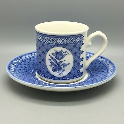 """Churchill Ironstone """"out Of The Blue"""" Coffee Cup & Saucer  By Mary Gilliatt"""