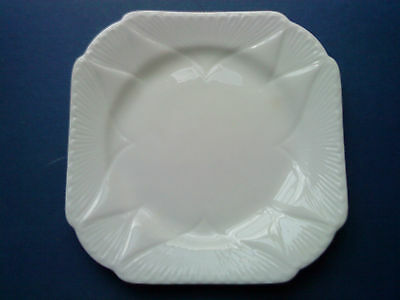 ART DECO SHELLEY DAINTY WHITE SQUARE SIDE PLATE c.1930's