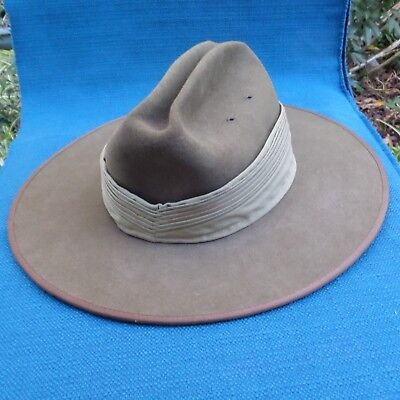 2005 Australian Army Akubra Slouch Hat with Puggaree Chinstrap - size 55