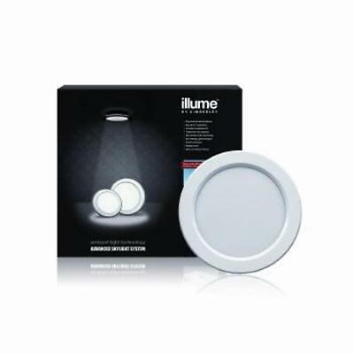 Illume Shaftless Skylight SOLAR POWERED SYSTEM 180MM ROUND - White - With Panel