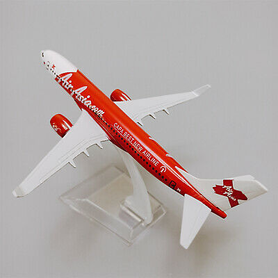 16cm alloy plane model Malaysia Air Asia B737 red color