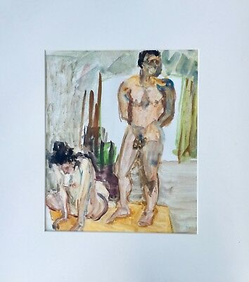 Lucy Gelman Glick (American 1921-1989) Modernist, PAFA, Female and Male Nude