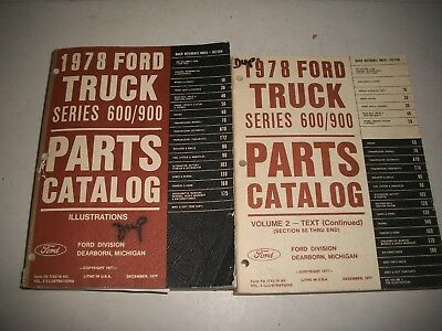 1978 Ford Truck 600/900 Parts Catalog Illustrations & Volume 2 Text Clean