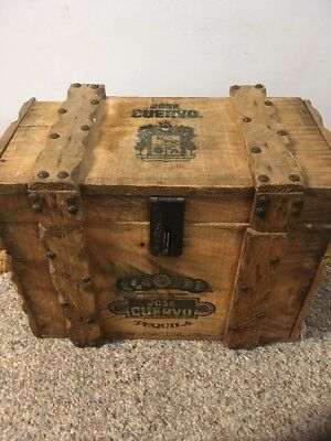 Vintage Jose Cuervo Tequila Wooden Box Product of Mexico  12 X 16 X 8.5