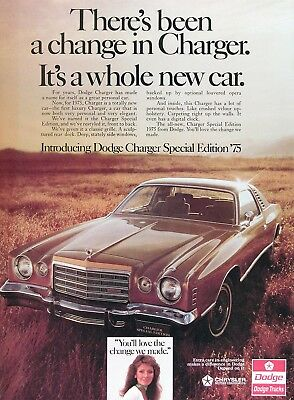 1975 DODGE CHARGER SPECIAL EDITION Original Vintage Ad ~ A Whole New Car