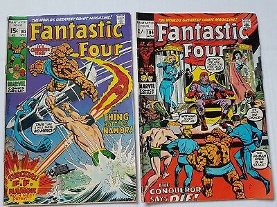 Fantastic Four #103 & 104 - Low Grade Reading Copies. See Pictures