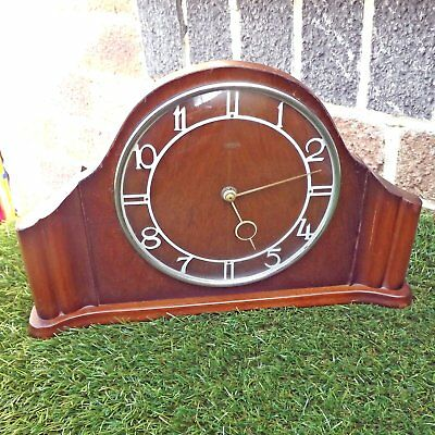 Vintage Smiths Art Deco 30 Hour Wind-Up Mantel Clock