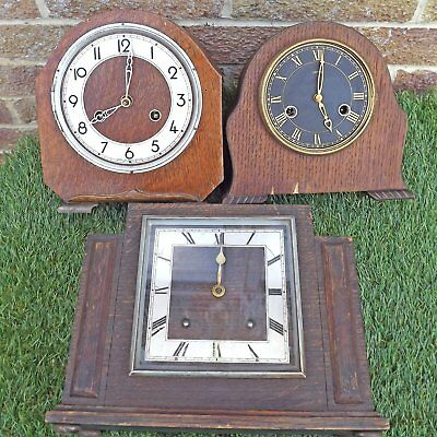 Collection 3 Clocks For Spares Or Repair - Smiths, Perivale & Garrard