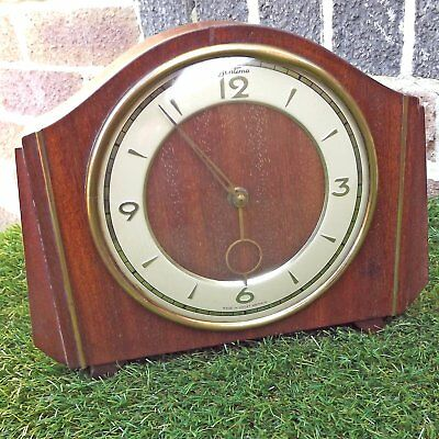 Vintage Bentima 30 Hour Wooden Mantle Clock