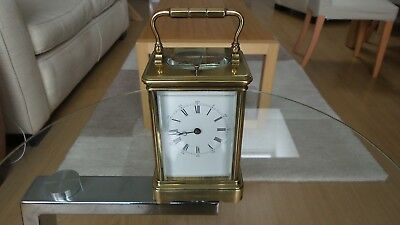Nice Old brass chiming carriage clock.