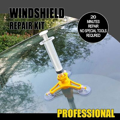 Windscreen Windshield Repair Tool Set DIY Car Wind Glass Kit For Chip Crack VG