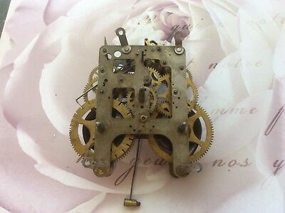 Antique Clock Movement For Reuse. Untested. William L Gilbert. USA