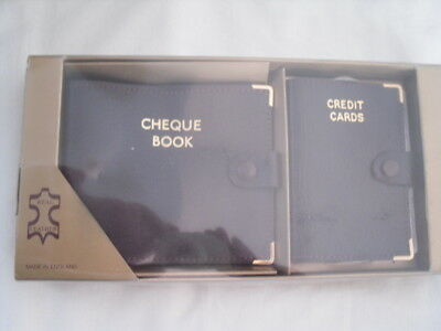 Retro - Genuine Leather Gift Set - Multi Card Wallet and Cheque Book Holder