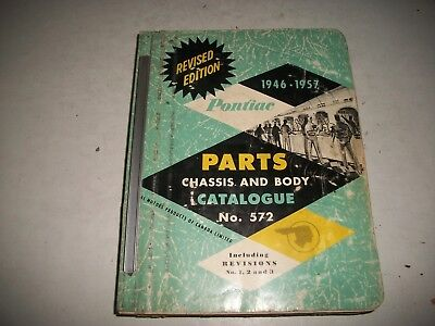 Original 1946-1957 Pontiac Chassis & Body Illustrated Parts Catalog Usa & Canada
