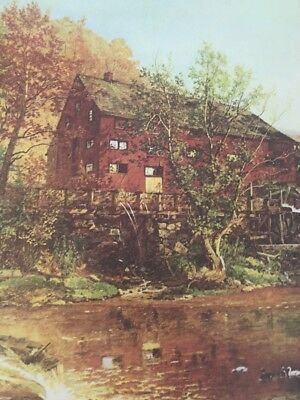 Jasper F. Cropsey: The Old Red Mill ( 1823-1900) / American Poster