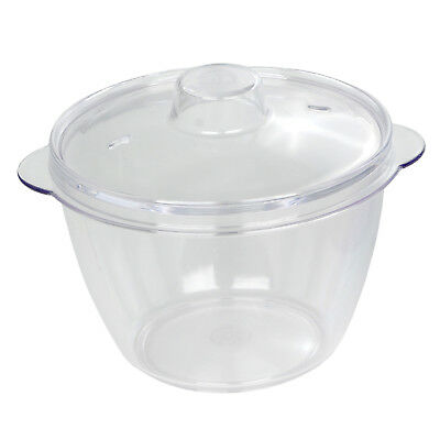 Dexam 0.2L 10cm Multi Purpose Clear Mini Microwave Pot 2 Lids Store Cook Reheat