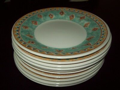 10 x CHURCHILL PORTS OF CALL KABUL BY JEFF BANKS SIDE PLATES 6.5  - IMMACULATE & 10 X CHURCHILL PORTS OF CALL KABUL BY JEFF BANKS SIDE PLATES 6.5 ...