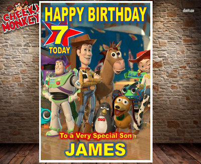 Toy Story Birthday Card 4 Personalised Daughter Son Girls Boys