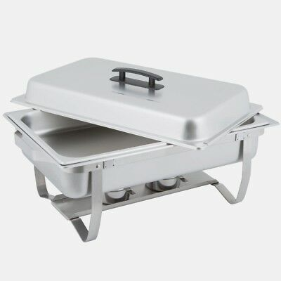 8 Qt Full Size Stainless Steel Chafer With Folding Frame Good For Special Events