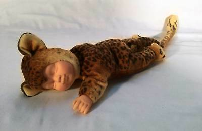 "ANNE GEDDES Baby Leopard Bean Filled Plush 9"" Stuffed Doll Toy Plush Spots Cat B"