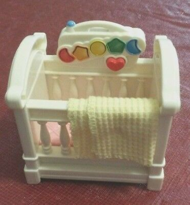 Fisher Price Loving Family Dollhouse Baby Nursery Crib Musical