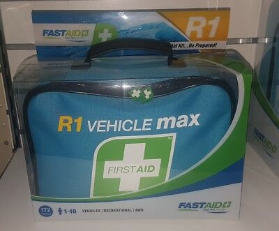 FASTAID Vehicle Max Deluxe First Aid Kit Soft Bag Blue Brand New