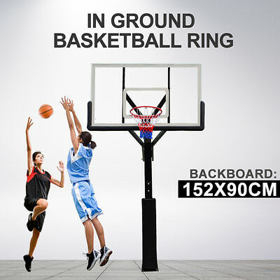 60 inch Professional In-ground Adjustable Basketball System with Hoop Backboard