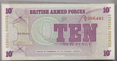 British Armed Forces 1972 10 Pence Note unc Bundle of 100