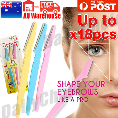 Tinkle Eyebrow Face Razor Trimmer Shaper Flat Blade Knife Hair Remover Tool