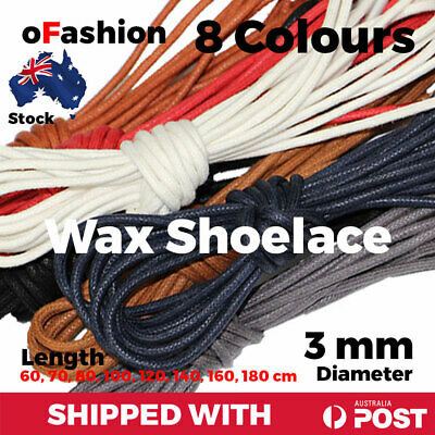 Wax Cotton Thin Round Dress Shoelaces Waxed Laces 3mm For Dress Shoes
