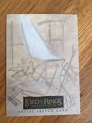 Topps The Lord of the Rings 1/1 Sketch Card Gimli in Moria Mines Leah Mangue