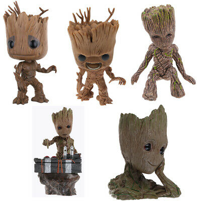 Guardians of The Galaxy Vol 2 Baby Groot Figure Flowerpot Pot Toy Best Gifts