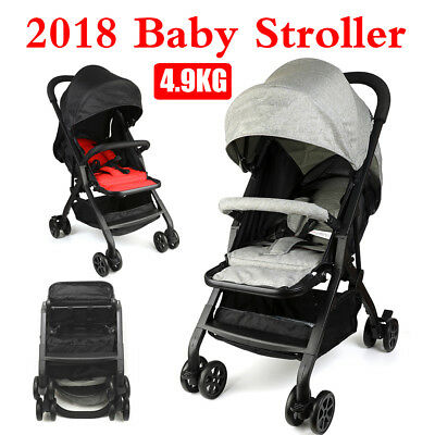 2 Colour Compact Lightweight Baby Stroller Pram Easy Fold Travel Carry on Plane