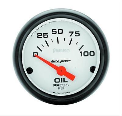 "Autometer Phantom Electrical Oil Pressure Gauge 2 1/16"" Dia White Face 5727"
