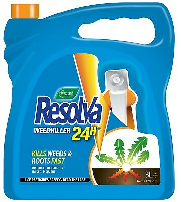 Resolva 24H Ready to Use Weedkiller 3 L Weed Rood Killer Spray Herbicide New