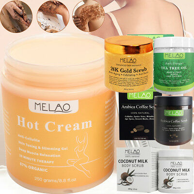 Anti Cellulite Arabica Coffee Body Scrub Exfoliating Kona Coconut Olive Oil Shea