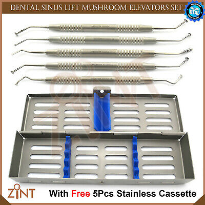 Advanced Sinus Lift Mushroom Elevator Implant Instruments With Cassette Set Of 5