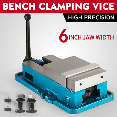 6'' Lock Vise Milling Drilling Machine Bench Clamp Clamping Vice Precision US